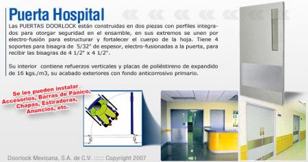 Puerta para hospital for Puerta tipo louver
